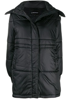 Armani single-breasted hooded coat