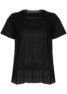 Armani layered pleated t-shirt