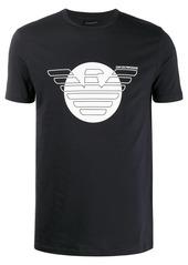 Armani printed eagle logo T-shirt
