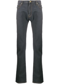Armani contrasting stitching jeans