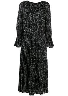 Armani polka-dot fil coupé dress