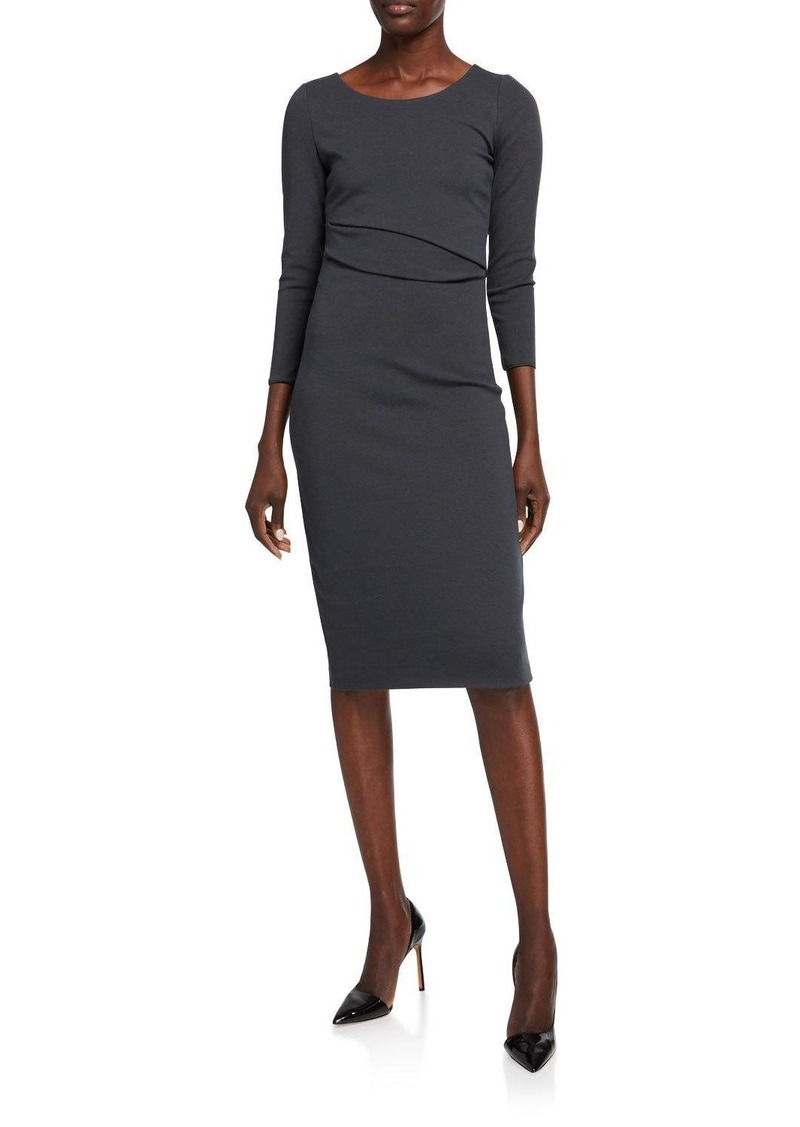 Armani 3/4-Sleeve Jersey Dress