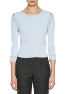 Armani 3/4-Sleeve Viscose Knit Top