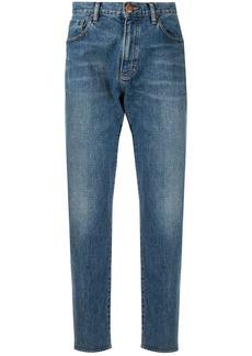 Armani stonewashed tapered jeans