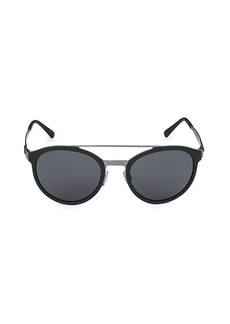 Armani 54MM Round Sunglasses