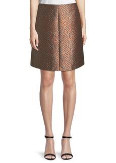 Armani A-Line Jacquard Skirt