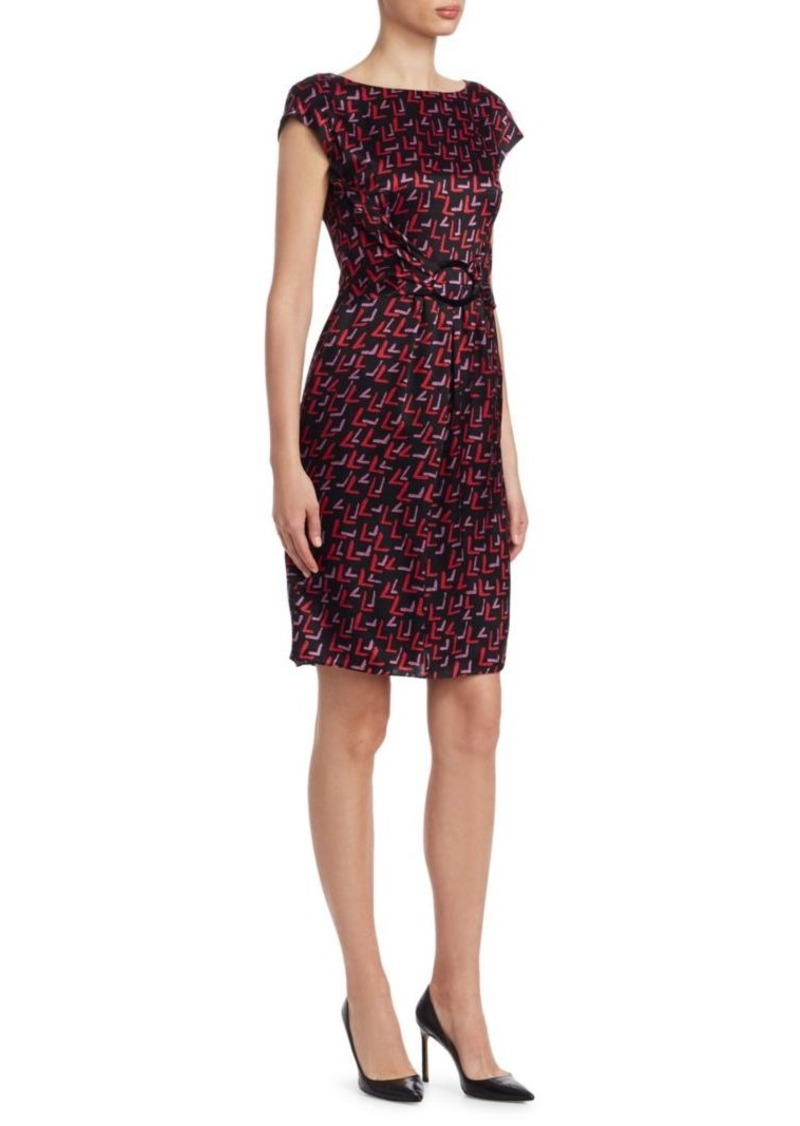 Armani Abstract Print Belted Dress