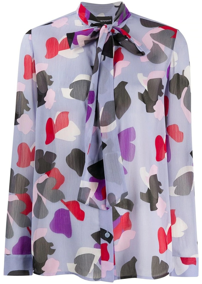 Armani abstract print blouse