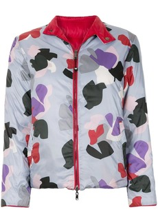 Armani abstract print padded jacket