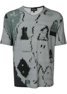 Armani abstract print T-shirt