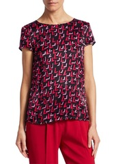 Armani Abstract Printed Silk Blouse