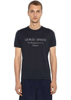 Armani Address Logo Cotton Jersey T-shirt
