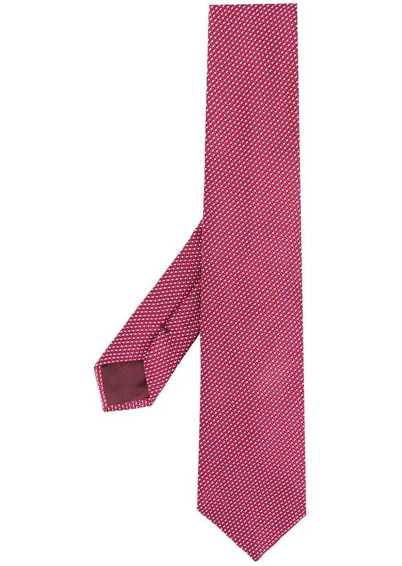 Armani adjustable geometric-pattern tie