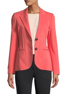 Armani Alba Stretch-Cotton Seamed-Front Blazer