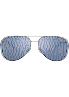 Armani all over logo aviator sunglasses