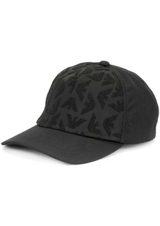 Armani all-over logo baseball cap