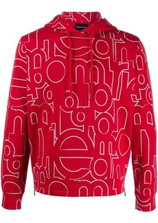 Armani all-over logo hoodie