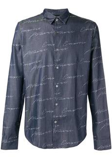 Armani all-over logo shirt