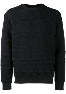 Armani all over logo sweatshirt