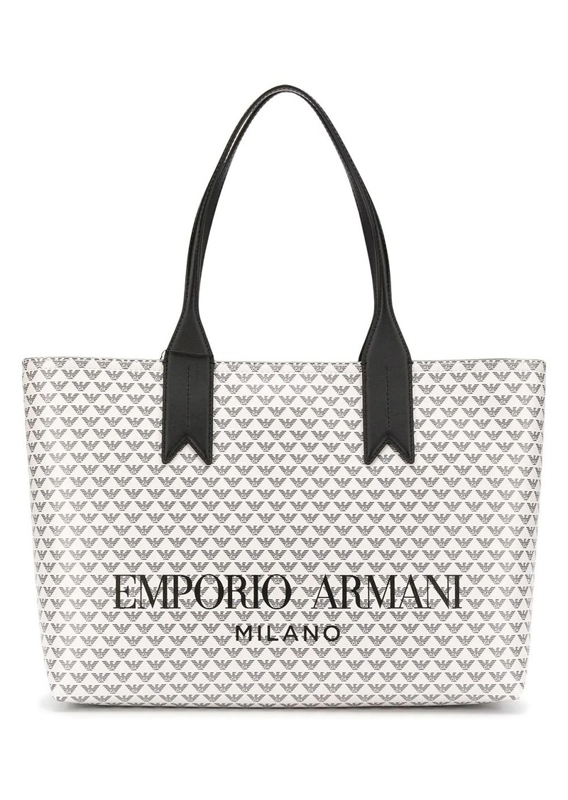 Armani all-over logo tote bag