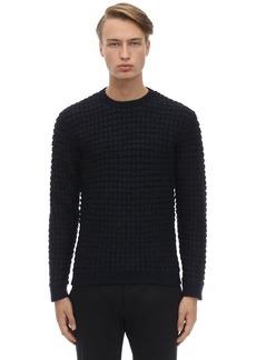 Armani Alpaca & Wool Crewneck Sweater
