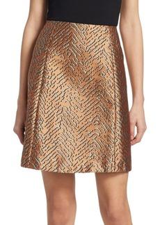 Armani Animal Jacquard A-Line Skirt