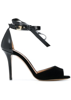 Armani ankle bow strap sandals