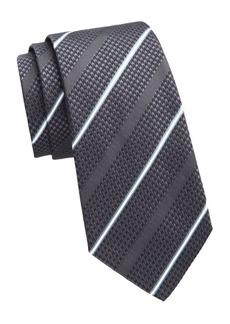 Armani Anthracite Striped Tie