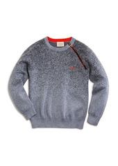 Armani Boys' Asymmetrical Zip Spatter Sweater - Little Kid, Big Kid