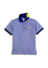 Armani Boys' Color Tipped Heather Piqu� Polo Shirt - Little Kid, Big Kid