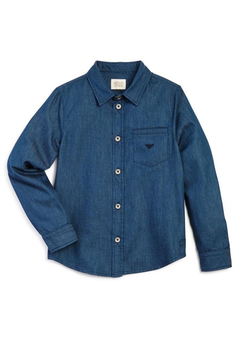 Armani Boys' Denim Button-Down Shirt - Sizes 10-16