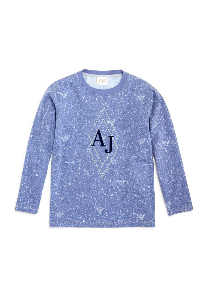 Armani Boys' Galaxy Print Logo Tee - Sizes 4-16