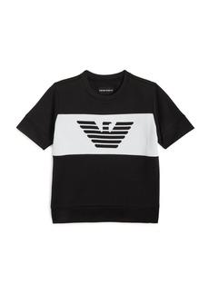 Armani Boys' Knit Eagle-Logo Tee - Little Kid, Big Kid