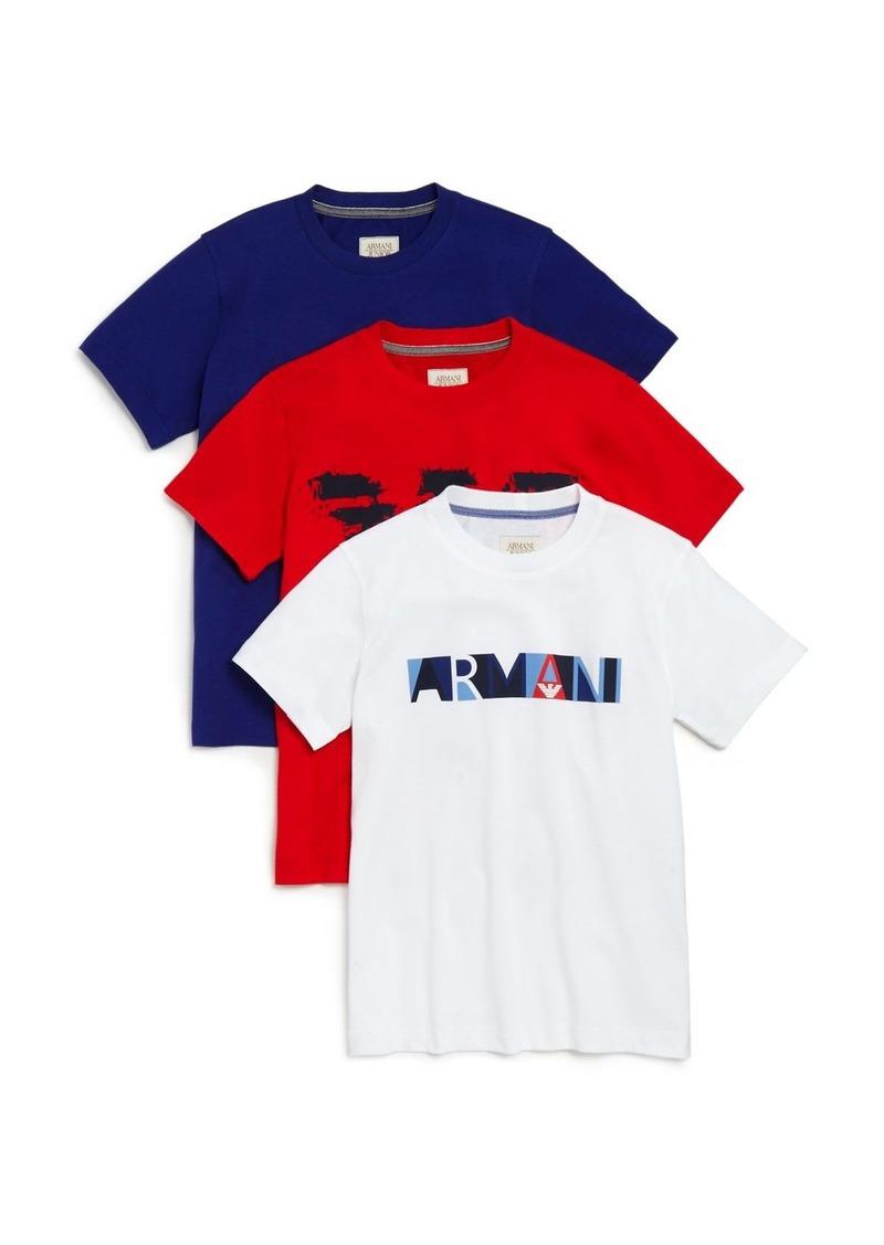 Armani Boys' Logo Tee, 3 Pack - Sizes 4-16