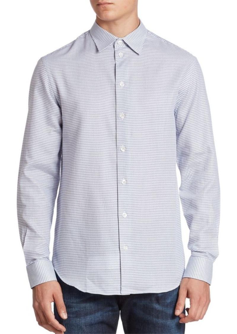 Armani Collezioni 3D Neat Button-Down Shirt