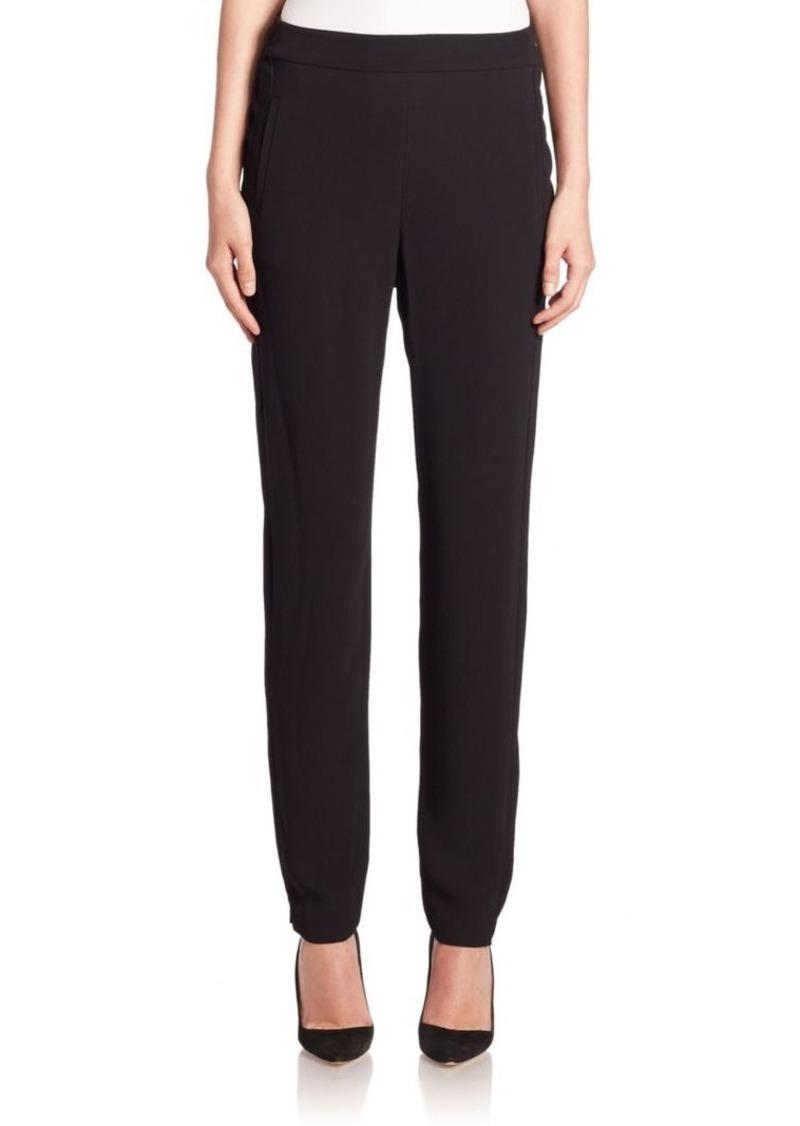 Armani Collezioni Armani Jeans Crepe Straight-Leg Pants