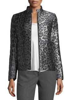 Cheetah-Print Puffer Jacket