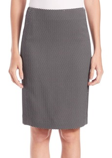 Armani Chevron Jacquard Skirt