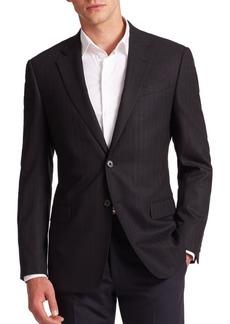 Armani Chevron Wool-Blend Sportcoat