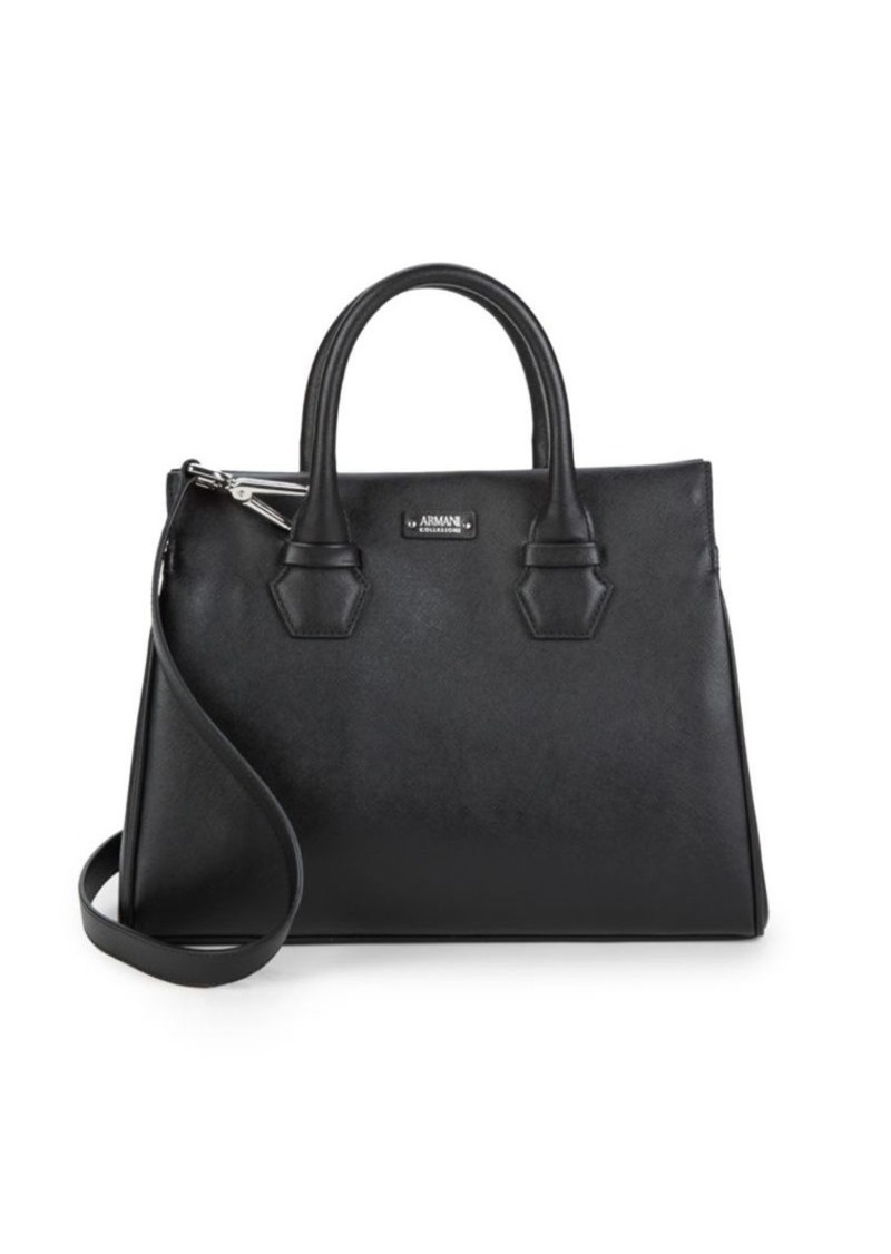 Armani Classic Leather Satchel