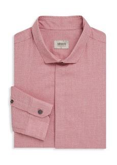Armani Regular-Fit Solid Dress Shirt