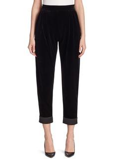 Armani Cropped Velvet Pants