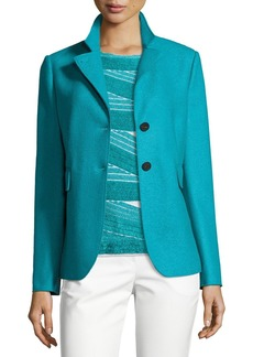 Armani Double-Faced Wool Two-Button Jacket  Azure
