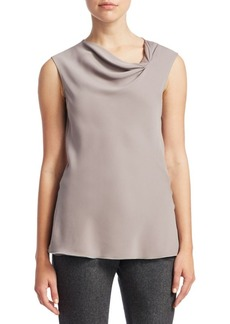 Armani Sleeveless Drape Blouse