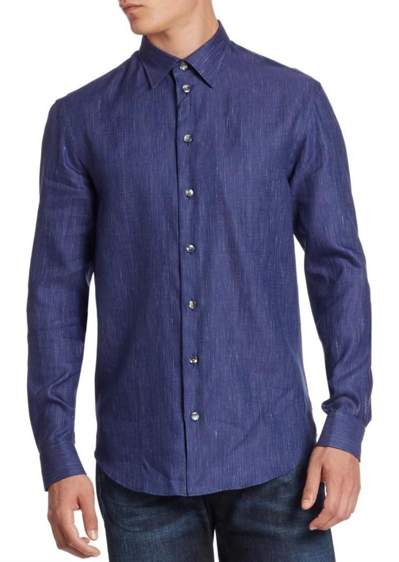 Armani Collezioni Linen & Cotton Sport Shirt
