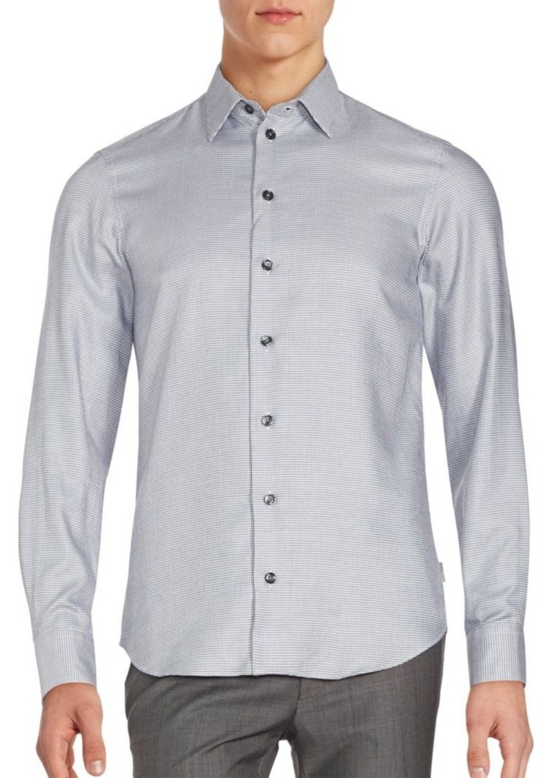 Armani Collezioni Long Sleeve Cotton Shirt