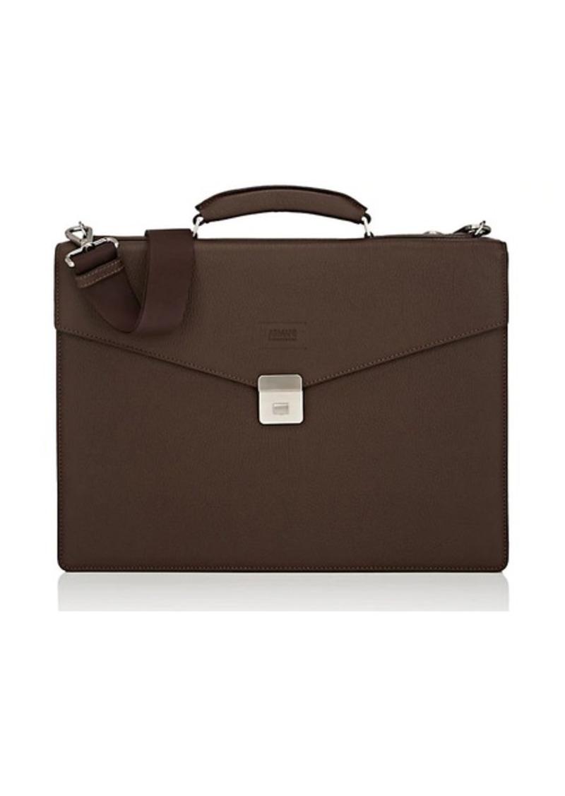 Armani Armani Collezioni Men s Leather Messenger Bag - Dk. brown  57e9323fa9585