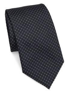 Armani Micro Diamond Silk Narrow Tie
