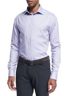 Armani Micro-Dot Cotton Dress Shirt