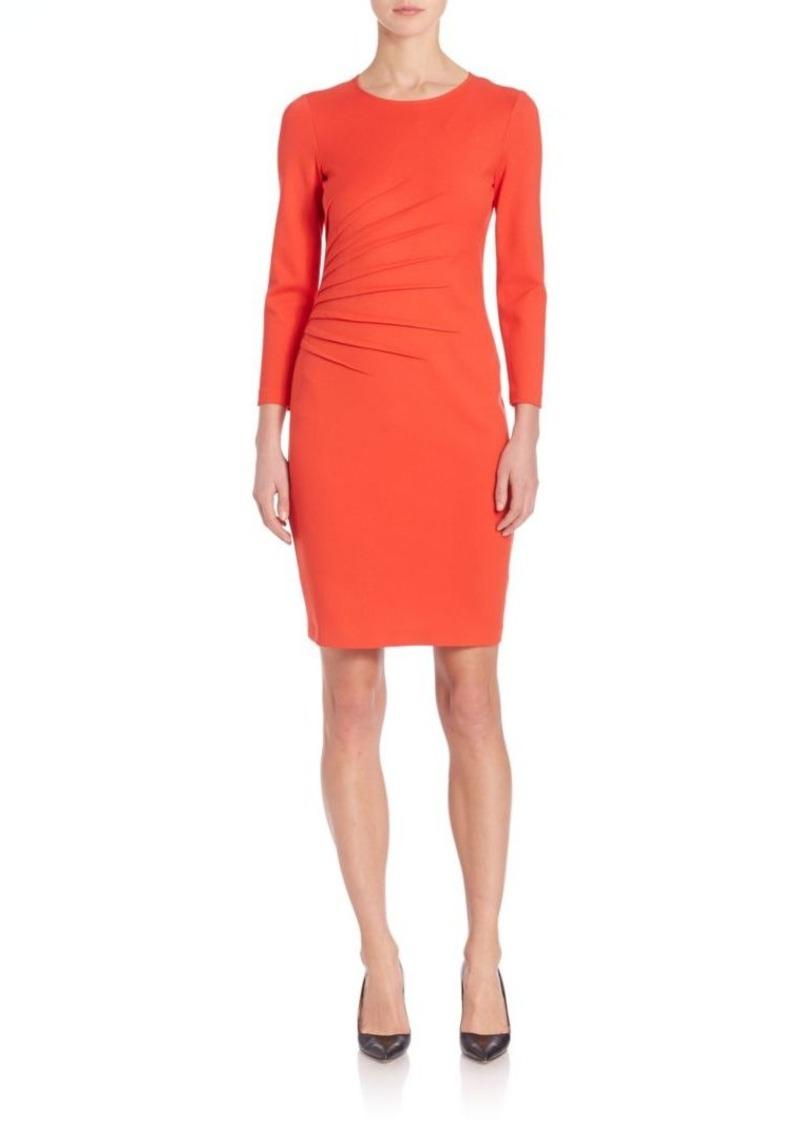 Armani Collezioni Milano Gathered Jersey Dress